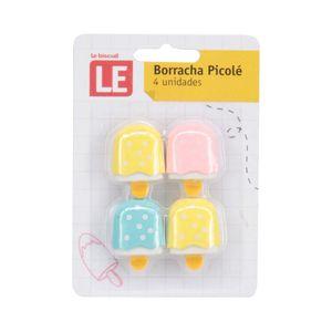 Mini Borracha Le Ice Pastel com 4 Unidades