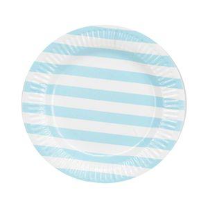 Prato de Papel Le Collec 18cm com 10 Unidades Azul