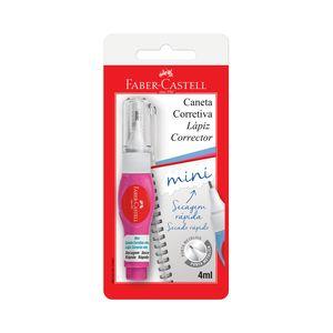 Caneta Corretiva Faber-Castell Mini Branco 4ml