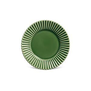 Prato Sobremesa Porto Brasil Plisse Verde 20,5cm