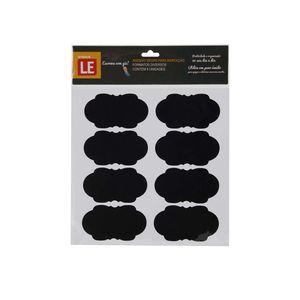 Etiqueta Adesiva de Papel Lousa Decorativa com 6 Unidades Preta Modelos Diversos - Item Sortido