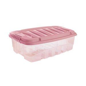Caixa Organizadora Plasútil Gran Box Baixa em Plástico Rosa 9,3l