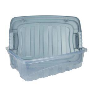 Caixa Organizadora Plasútil Gran Box Baixa em Plástico Azul 9,3l