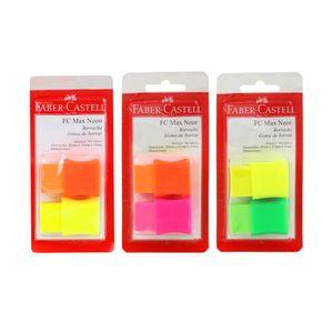 Borracha Faber-Castell Max Neon Capa Plástica com 2 Unidades Cores Diversas - Item Sortido