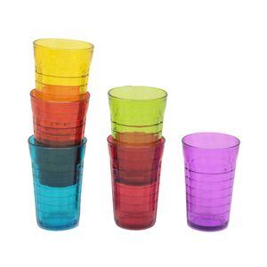 Jogo de Copos Le Colore em Vidro Colorido 6 Peças 320ml