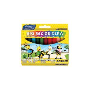 Giz Cera Acrilex Big Regular com 12 Cores 112g