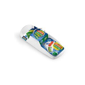 Porta Detergente, Bucha e Sabão com Grelha Arthi em Plástico Branco