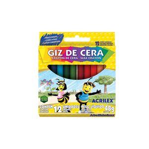 Giz Cera Acrilex Regular com 12 Cores 48g