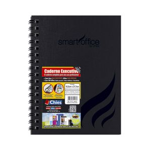 Caderno Executivo Chies Espiral Capa Dura 1/4 100 Folhas Preto