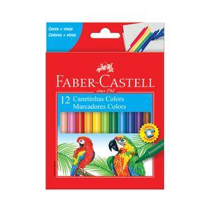 Hidrocor Faber-Castell Regular com 12 Cores
