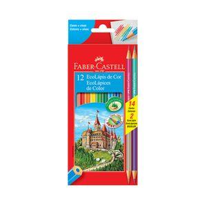 Lápis de Cor Faber-Castell 10 Cores e 2 Lápis Bicolor