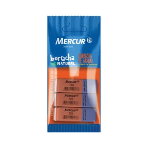 Borracha Mercur Prima Bicolor com 2 Unidades