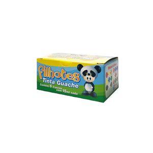 Tinta Guache Acrilex Filhotes com 6 Cores 15ml