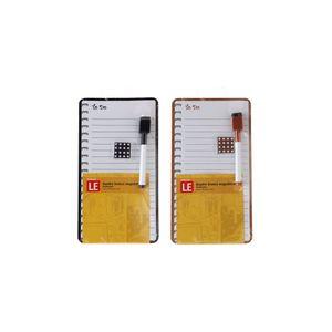 Quadro Magnético Branco Le Anotações com 2 Ímãs e Marcador 14x25,5cm