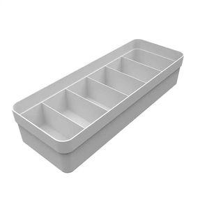 Caixa Organizadora de Gaveta Martiplast Colmeia Logic G de Plástico Branco Multiuso 35x12,5x7,5cm