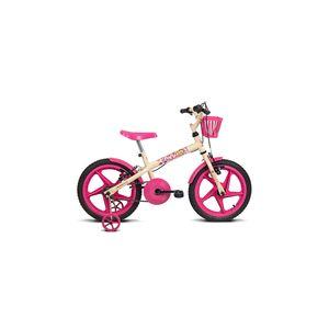 Bicicleta Verden Fofys Aro 16 Bege com Rosa