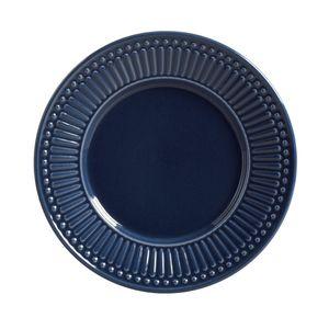 Prato de Sobremesa Porto Brasil Roma Deep Blue Azul 20,5cm