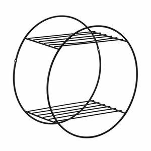 Prateleira Aramada Arthi Decora 30x30x18cm Redonda Metal Black