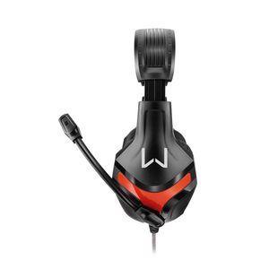 Headset Gamer Multilaser Warrior Harve Conexão P2 com Haste Regulável Preto e Vermelho Ph101