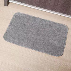 Tapete Para Banheiro Tapetes Junior Color em Algodão 40x60cm Cinza Antiderrapante