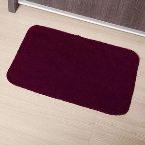 Tapete Para Banheiro Tapetes Junior Color em Algodão 40x60cm Vinho Antiderrapante