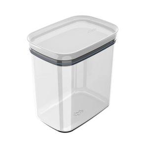 Pote de Plástico Hermético Martiplast Block Branco 450ml