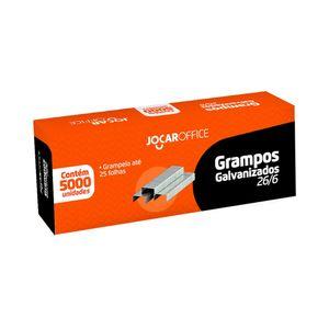 Grampo Galvanizado Leonora Jocar Office 26/6 com 5.000 Unidades
