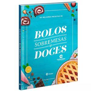 Livro Culturama As Melhores Receitas de Bolos, Sobremesas e Doces