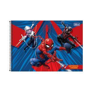 Caderno  Cartografia Tilibra Capa Dura Spider-Man Capas Diversas - Item Sortido