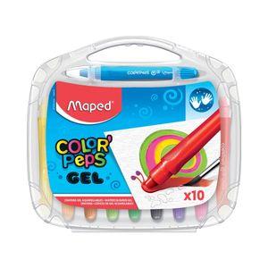 Giz em Gel Maped Aquarelável Color Peps Maleta com 10 Cores Vibrantes