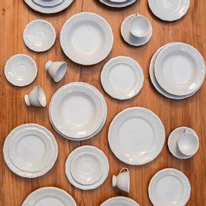 Aparelho de Jantar Schmidt Pomerode em Porcelana Branco 30 Peças
