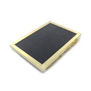 Quadro Lettering com Moldura Dourada 30,5x22,5cm com 120 Letras