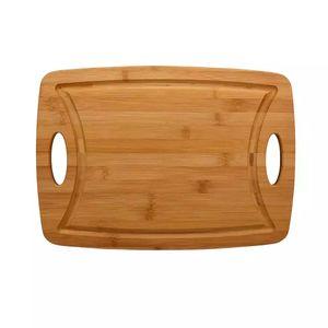 Tábua de Corte Le em Bambu Marrom Para Churrasco 39,5cm