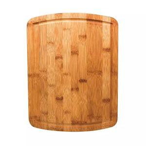 Tábua de Corte Le em Bambu Marrom Para Churrasco 40cm