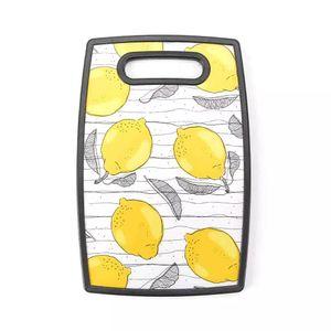 Tábua de Corte Le Lemon em Plástico Amarelo Retangular 30x20cm