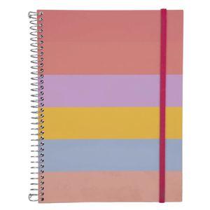 Caderno Universitário Confetti Espiral Capa Plástica Le Candy 1 Matéria Aba Elástico 96 Folhas