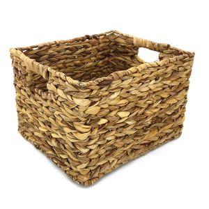 Cesto Organizador Le Fibra Natural Bege com Alças 33,5x29x22,5cm