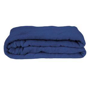 Manta Cobertor Queen Fleece Le Casa Lisa 100% Poliéster Azul
