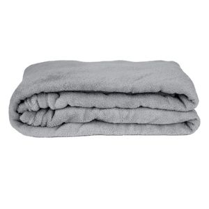 Manta Cobertor Queen Fleece Le Casa Lisa 100% Poliéster Cinza