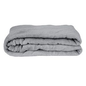 Manta Cobertor Solteiro Fleece Le Casa Lisa 100% Poliéster Cinza