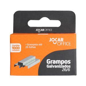 Grampo Galvanizado Leonora Jocar Office 26/6 com 1.000 Unidades
