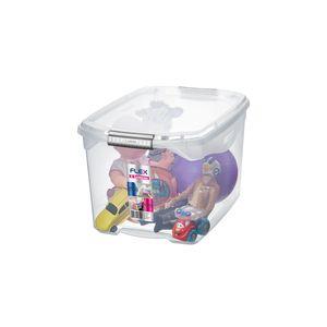 Caixa Organizadora Sanremo Flex em Plástico Cristal 29l