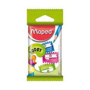 Apontador Maped Basic Boogy 1 Furo com 3 Unidades Colorido Cores Diversas - Item Sortido