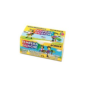 Tinta Guache Acrilex com 6 Cores 15ml