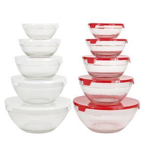 Conjunto de Potes Le Classic em Vidro com Tampa Plástica com 5 Peças - Item Sortido