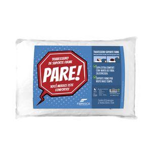 Travesseiro Fibrasca Pare de Suporte Firme Poliéster Branco