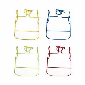 Avental Infantil Kit Plástico Liso Borda Cores Diversas - Item Sortido