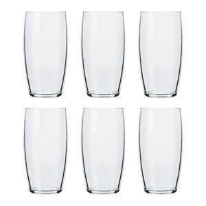 Jogo de Copos Nadir Oca Long Drink de Vidro Liso com 6 Peças 300ml