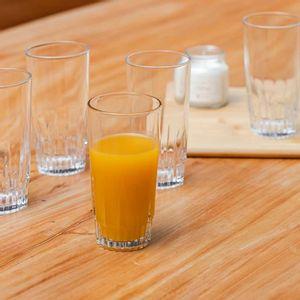 Jogo de Copos Nadir Vegas Long Drink de Vidro Liso com 6 Peças 300ml
