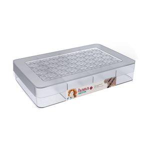 Caixa Organizadora Ordene em Plástico Cristal Para Joias com Divisórias 31,5x20x6,2cm